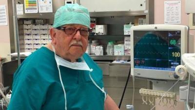 85 წლის ექიმი-ანესთეზიოლოგი მოხალისედ უბრუნდება კლინიკას